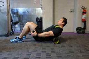 preparing to squat- Thoracic mobilisation position 1