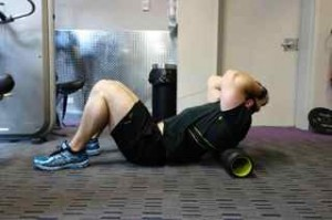 preparing to squat- Thoracic mobilisation position 3